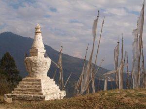 stupa in Oost Bhutan