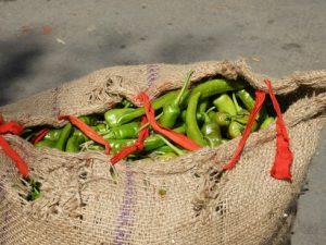 pepers op de markt Bhutan