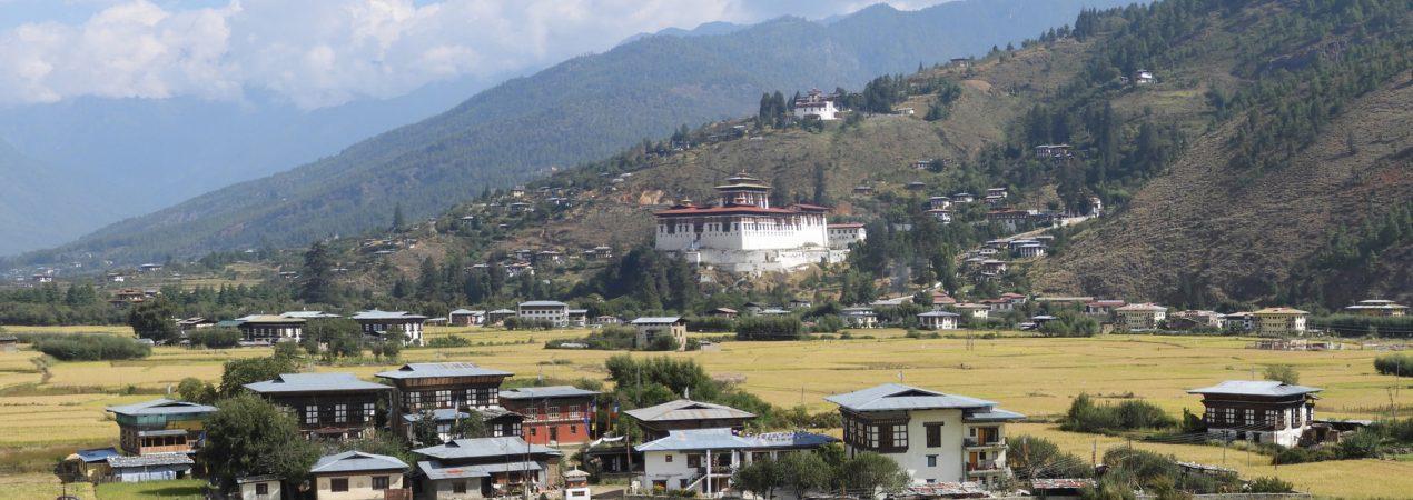 Paro dzong en vallei
